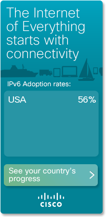 Cisco 6lab IPv6 stats widget